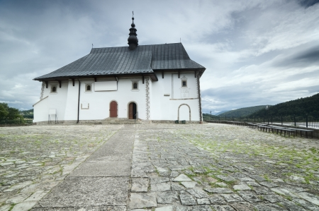 Small catholic church in rural Poland photo
