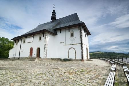 Small catholic church in rural Poland photo