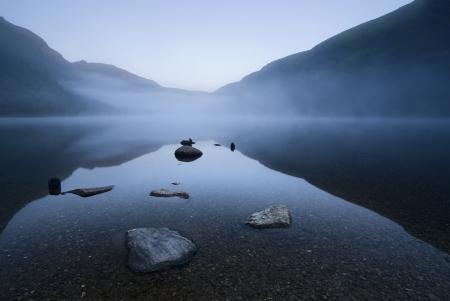 Twilight at Upper Lake in Glendalough Scenic Park, Ireland
