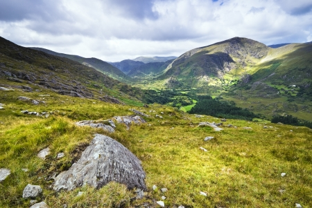 Mountain view in Killarney National Park, County Kerry, Ireland photo