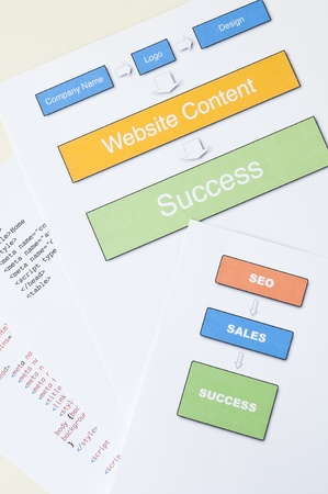 Search engine optimization planning with diagram, Stock Photo - 14368562