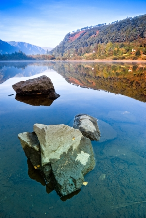 Upper Lake in Glendalough Scenic Park, Republic of Ireland, Europe photo