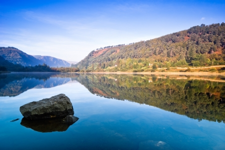 Upper Lake in Glendalough Scenic Park, Republic of Ireland, Europe