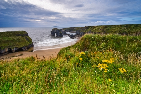 Cliffs over Atlantic Ocean in County Kerry, Republic of Ireland, Europe Stock Photo