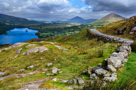 View over valley in Killarney National Park, Republic of Ireland Stock Photo