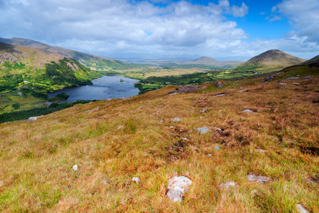 ireland: View over valley in Killarney National Park, Republic of Ireland Stock Photo