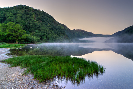 Upper Lake in Glendalough Scenic Park, County Wicklow, Republic of Ireland 版權商用圖片