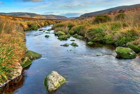 dublin ireland: Scenic view over wild terrain in Dublin Mountains, Republic of Ireland Stock Photo