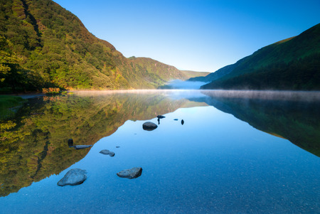 Hoger Meer in Glendalough Scenic Park, County Wicklow, Ierland Stockfoto - 37186631