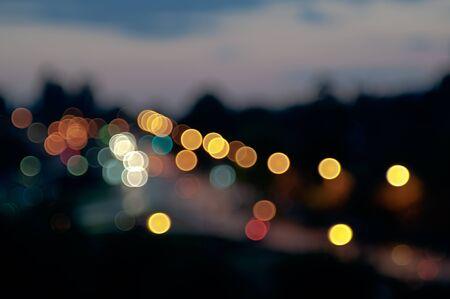 bokeh lights: Abstract background of defocused bokeh lights. Soft focus Stock Photo