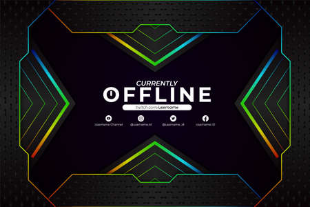 Modern Technology Futuristic Gaming and Social Media Currently Offline Colorful Glow in The Dark Background