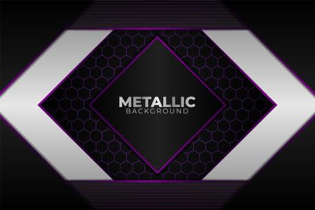 Elegant Modern Abstract Glossy Metallic Purple and White with Dark Grey Background