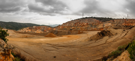 The quarry: one of the sites of extraction of essential raw material Foto de archivo
