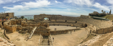 The grandios amphitheater, a construction of the past centuries.