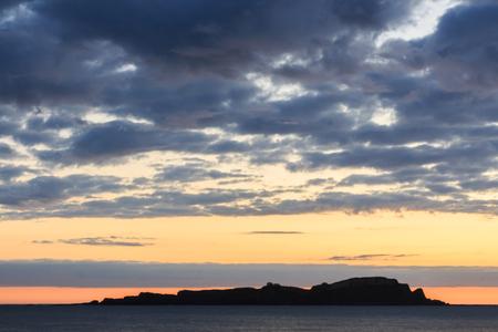 Splendid dawn from the beach of Mundaka Foto de archivo