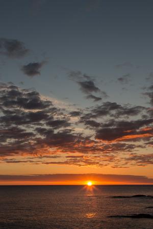 Espléndido amanecer desde la playa de Mundaka