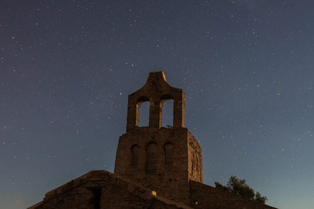 When the sanctuary is the protagonist in the night photos Foto de archivo