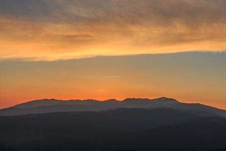 Sunrise from the La Molina ski slopes
