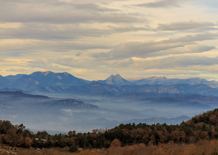 Beautiful view of one of the mythical mountains of Catalonia: El Pedraforca