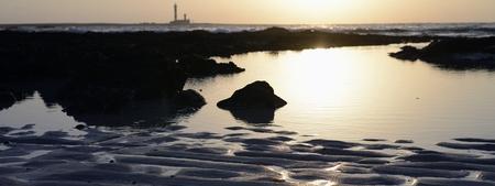 panorama sunset of lighthouse