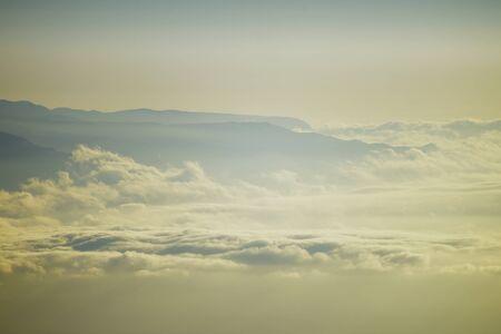 cloudscape mountains
