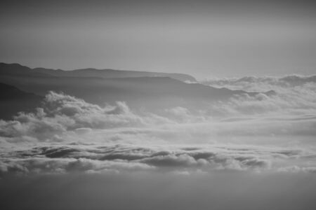 cloudscape and mountains