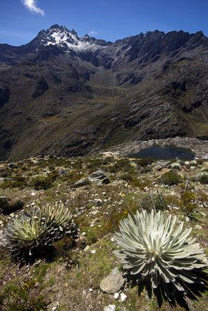 andes mountain: Peak Bolivar in the Andes near Merida, Venezuela Stock Photo