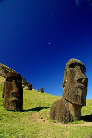south pacific: Easter Island Statues
