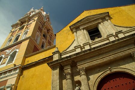 Colorful Cathedral of Cartagena in Colombia photo