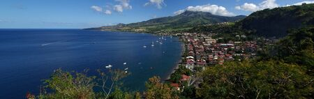 pierre: Panorama of Saint Pierre Bay in the Carribean Stock Photo