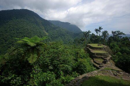 Verloren indischen Stadt von Ciudad Perdida in den Dschungel in Kolumbien Standard-Bild