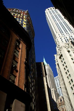 Financial district of New York around Wall Street Stock Photo - 5801083