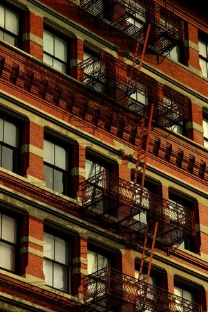 flamme: Fire escape stairs in the USA