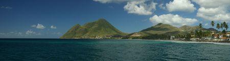 martinique: Panorama del diamante en la isla francesa de Martinica  Foto de archivo
