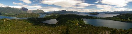 Panorama view of Barioche and its lake in Patagonia of Argentina Stock Photo - 6471088