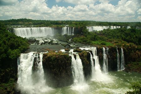 Iguazu Falls at the border between Argentina, Brazil and Paraguay photo