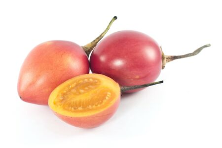 tamarillo: Populat in Colombia and Ecuador, the flesh of tamarillo is tangy, acid and sweet and is used for desserts, juices as well as stews and curries