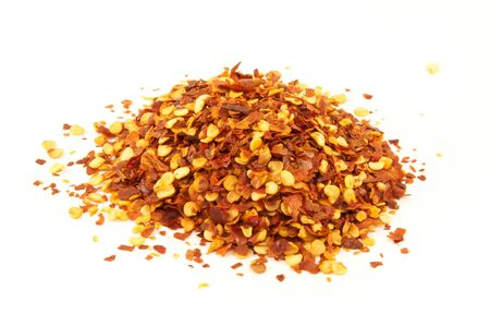 Crushed red pepper flakes photo