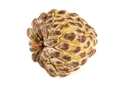 pomme: Tropical fruit called anon or custard apple isolated on white background