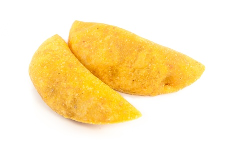 colombian food: Empanadas are stuffed pastries made with corn flour and filled with meat or cheese