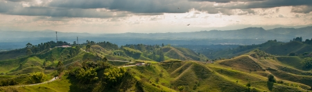 mujer: Viewpoint near Filandia, in the heart of the coffee growing region of Colombia Stock Photo