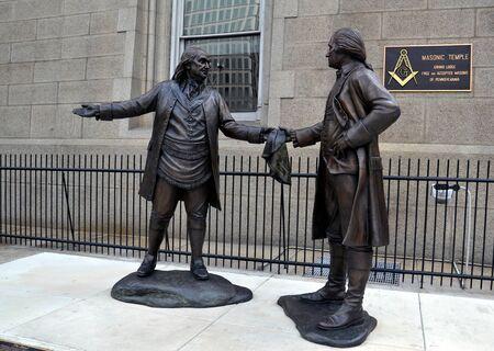Benjamin Franklin and George Washington, Philadelphia, Pennsylvania, United States of America