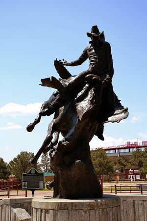 Rodeo Sculpture, Cheyenne Frontier Days Old West Museum, Cheyenne, WY, USA