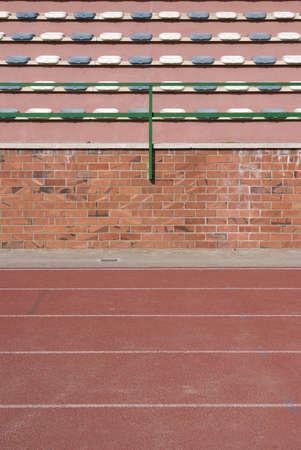 Stadium seats and tracks