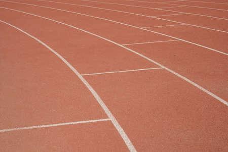Athletics racetracks background Stock Photo