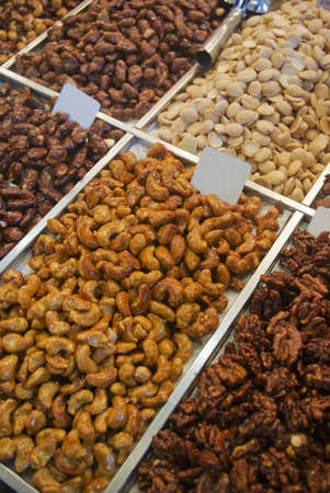 boqueria: Nuts and candles at La Boqueria Market