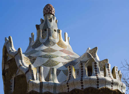 Park Guell Antoni Gaudi Barcelona Spain Stock Photo - 4923223