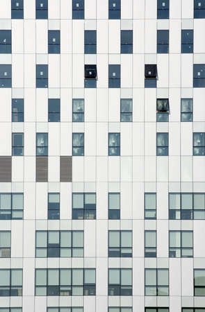 Office windows Stock Photo