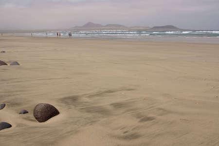 Volcanic beach at Lanzarote Island, Spain