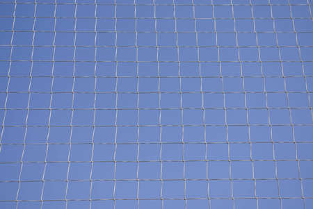 A net on a blue sky to use in your designs photo